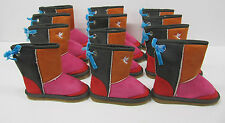 Girls Boots 6 pair wholesale lot LED FLASHING LIGHTS red pink children's snug