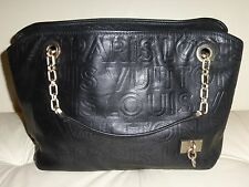 Louis Vuitton Authentic Automne-Hiver 2008 Collection Embossed Black Leather Bag