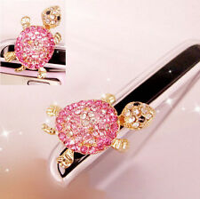 3.5mm Turtle Anti Dust Stopper Crystal Earphone Plug Cap For iPhone 5 6S Samsung