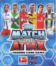 Match Attax 2014/15 Bundesliga aus Liste 20 Karten und Sonderkarten aussuchen