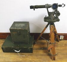 Vintage WWII Anti-Aircraft Observation Scope Herschede Hall Clock Co. 1943