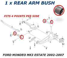 FOR FORD MONDEO MK3 ESTATE REAR TRAILING UPPER LOWER SUSPENSION ARM BUSH 00-07