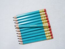 "24 ""Light Turquoise"" Personalized Golf Pencils with Erasers"