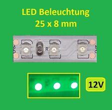 10 X Grün LED  Beleuchtung (8mmX 25mm)   TOP PREIS!!  - E323