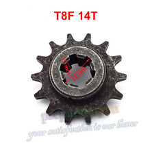 T8F 14 Tooth Clutch Gear Box Chain Sprocket Front Pinion 47 49cc Mini Dirt Bike