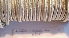 Soutache silberfarben Metallfolie 6mm 1 Meter neu (#154-)