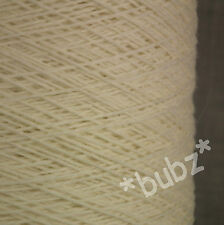GORGEOUS SOFT CASHMERE MERINO WOOL YARN - CREAM - 250g CONE 5 BALLS PURE 3 PLY