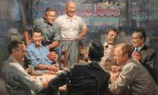 """BEST ART # American Presidents playing poker painting ON CANVAS # 32"""" INCHES"""