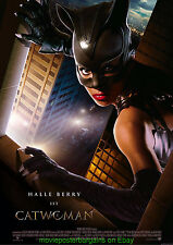 CATWOMAN MOVIE POSTER HALLE BERRY Original DS 27x40 Final Style 2004 Film