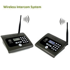 2pcs Full Duplex Home Indoor Wireless Voice Calling Intercom System+Antennas Hot