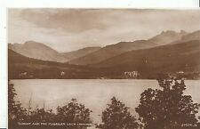 Scotland Postcard - Tarbet and The Cobbler - Loch Lomond - Real PhotographZZ1828
