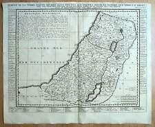 CARTE DE LA TERRE SAINTE, TRIBUS D'ISRAEL EN PALESTINE gravure de Chatelain 1708