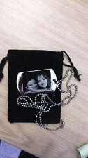 Personnalisé photo et texte gravé large dog tag pendentif-father 's day