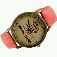 New Luxury Brand Fashion Faux Leather Men Watch Quartz