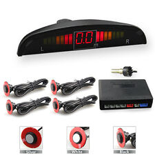 LED Car Parking Rear Reverse With 4 Flat Ultrasonic Sensors Buzzer Radar Alarm