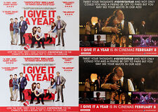 4 X I GIVE IT A YEAR FILM POSTCARDS - ROSE BYRNE RAFE SPALL STEPHEN MERCHANT