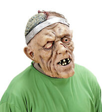 MENS ZOMBIE MASK OPEN BRAIN MONSTER LATEX SCARY HALLOWEEN FANCY DRESS HORROR NEW