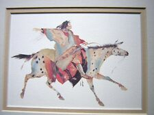 """Great Plains Warrior Carol Grigg - 8x10"""" Double Matted - New"""