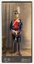 CDV-Foto - ULAN 2. Garde-Ulanen Rgt, kolorieirt, benannt - Berlin, um 1910