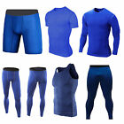 Mens Compression Base Layer Body Armour Under Shirt Skin Tight Top Shorts Vest