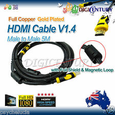 Full Copper HDMI Cable V1.4 3D HighSpeed with Foil Shield & Magnetic Loop 5m