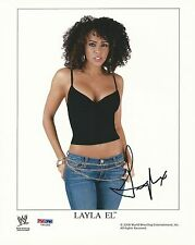 Layla El Signed 8x10 Photo PSA/DNA COA WWE Diva Promo Picture Autograph ECW Cool