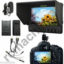 """Lilliput 7"""" 663/O/P IPS Peaking Focus HDMI In & Out Monitor+Hot shoe stand+cable"""