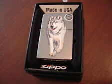 BLACK ICE WOLF ZIPPO LIGHTER MINT IN BOX