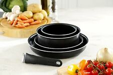 New Tefal 5 Pcs Black Ingenio Essen. Non Stick Frying Pan Set Kitchen oven safe