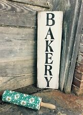 """Large Rustic Wood Sign - """"Bakery"""" - Vertical- 2 Feet - Fixer Upper, Kitchen"""