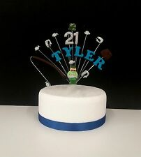 FISHING  BIRTHDAY CAKE TOPPER (any name or age can be added)
