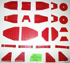 Lego Red Specialty Plates Circle 60474 2625 30503 4856 51739 5892 52501 4209 lot
