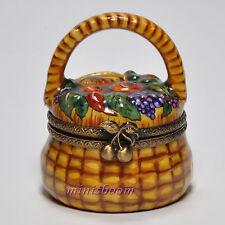 Limoges French Porcelain Box FRUIT BASKET  31