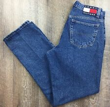 Vintage 90s TOMMY HILFIGER Womens Jeans Denim High Waist Straight Leg Logo Sz 14