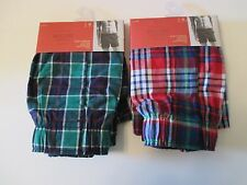 2 MOSSIMO M 32-34 Plaid Slim Fit Boxer Briefs Underwear~BRAND NEW!!