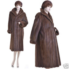 Gorgeous Real Sable Brown Female Mink Fur Coat w/FREE Mint Mink Hat