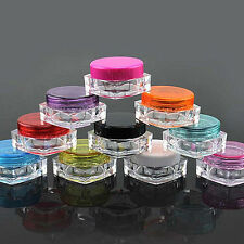 10Pcs 5g Cosmetic Empty Jar Pot Eyeshadow Makeup Face Cream Lip Balm Container Z