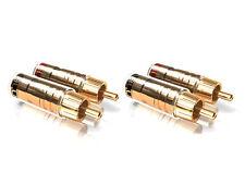 4 x Viablue TS Spina rca dorato 30512 rca phono connettore