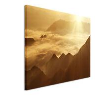 120x80cm Leinwandbild auf Keilrahmen Karparten Sonnenuntergang