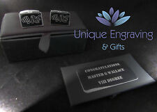 Personalised Photo / Text / Logo Engraved Cufflinks - Ideal Wedding Gift!