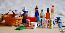 25Pcs/Lot Dollhouse Miniature Food Cups Kitchen Furniture Kids Toy Re ment Size