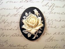 40x30mm Rose Cameo (1) - L854-1 Jewelry Finding
