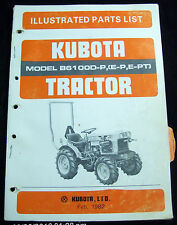 KUBOTA Model B6100D-P, (E-P, E-PT) Tractor Illustrated Parts List (Feb 1982)#324