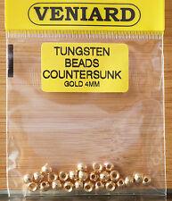 Tungsten Beads 25 Stück Veniard 4 mm gold