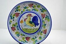 """Vietri Galletto Rooster Chicken Hand Painted Italian Dinner Wall Plate 10 7/8"""""""
