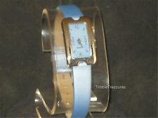 VTG LADIES NO NAME QUARTZ WRISTWATCH MEDIUM BLUE FACE AND BAND! CUTE!  z234