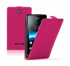 Ultra Slim PINK Leather case cover for Sony Xperia E / C1504 / C1505 experia