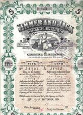 Oiginal South Africa 1924 Bond Gold Simmer & Jack Mines Company 5 shares Deco