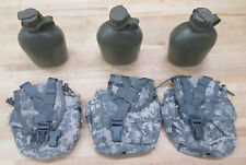 US MILITARY 1 QUART CANTEENS, DIGITAL CAMO COVERS [Qty/3] ~NEW~