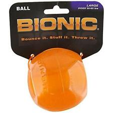 Bionic BA-CL205 Ball Durable Dog Chew Toy Treat Toy, Large, Orange New